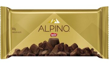 Barra de Chocolate Alpino Nestlé 100g