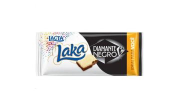 Barra de Chocolate Lacta Diamante Negro e Laka 90g